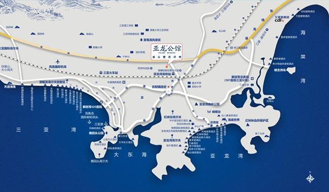 亚龙公馆-交通区位图