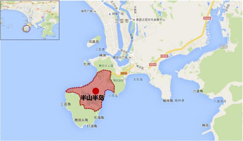 半山半岛区位图
