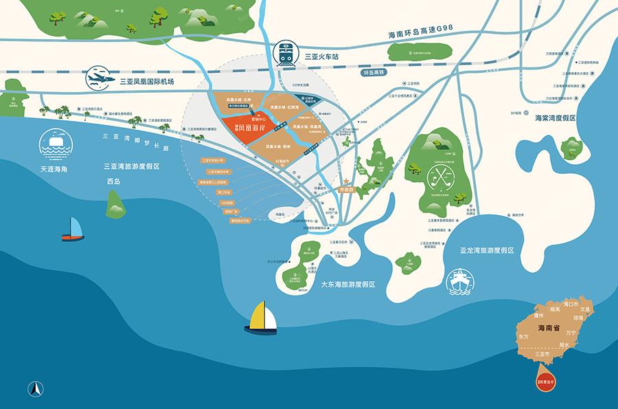 凤凰海岸位置交通图