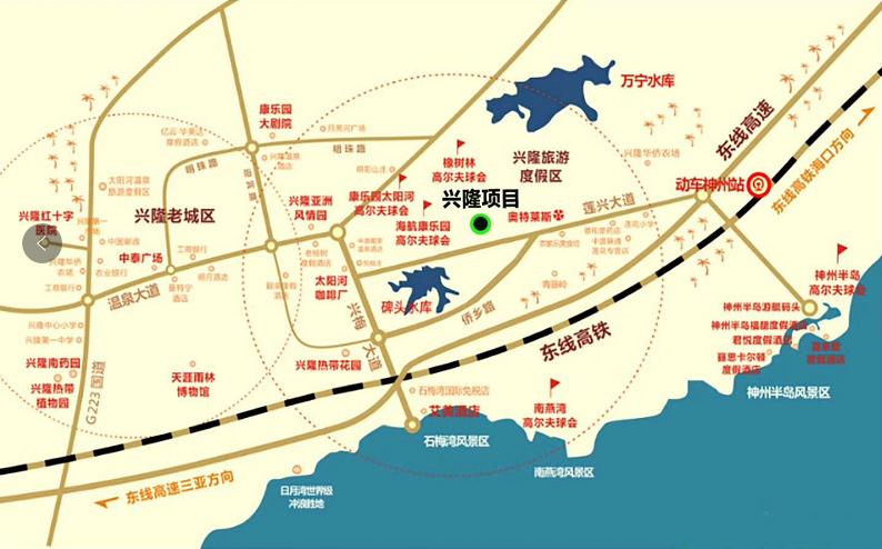 海南臻园区位图