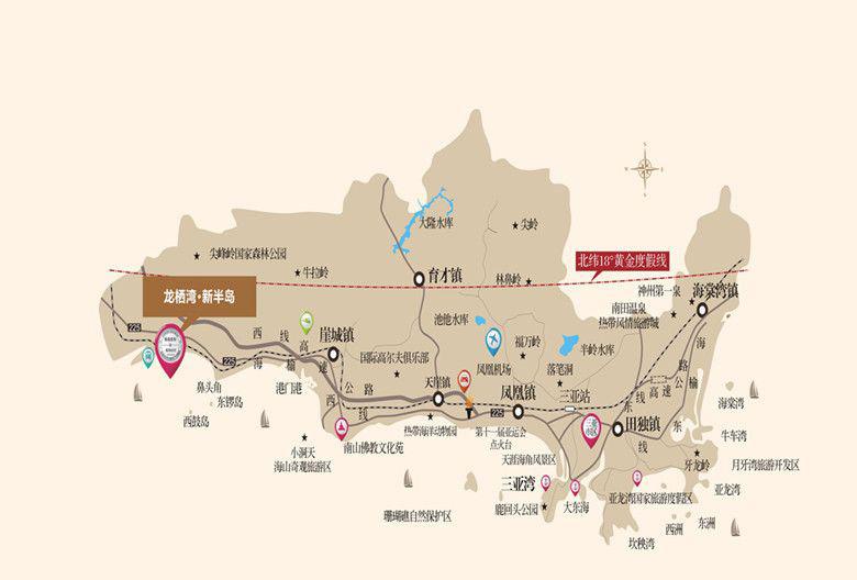 龙栖湾·新半岛区位图