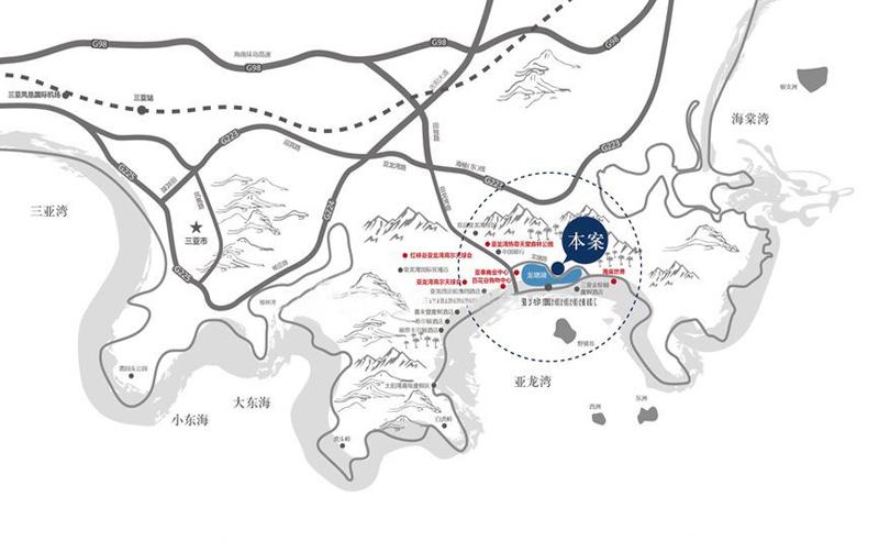 铂悦亚龙湾区位图